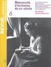 REVUE DE LA BNF 06 : MANUSCRITS D'ECRIVAINS DU XX E SIECLE
